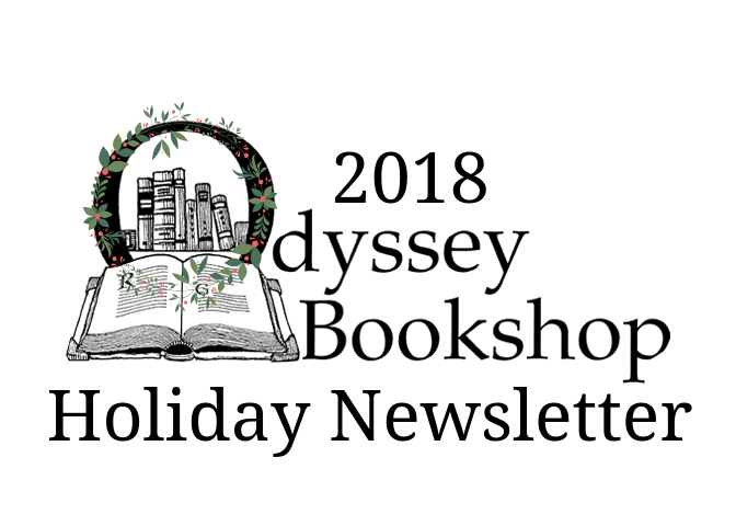 2018 Odyssey Bookshop Holiday Newsletter