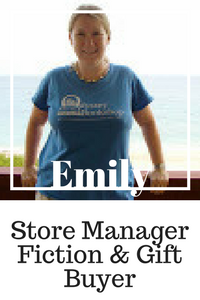 Emily Store Manager, fiction and gift buyer. Hp Fanatic