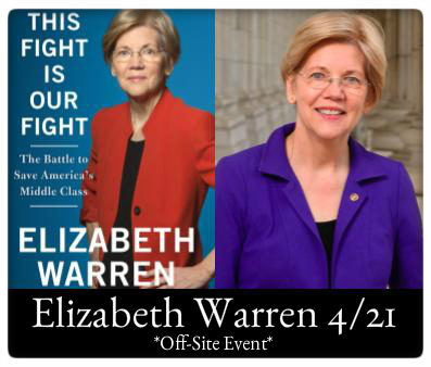 Elizabeth Warren This Fight Is Our Fight 4/21 7pm Mount Holyoke College