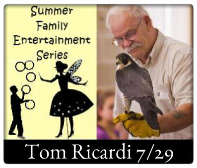 "Summer Family Entertainment at The Village Commons Saturday, July 29th at 10:30 AM, Tom Ricardi, ""Birds of Prey"""