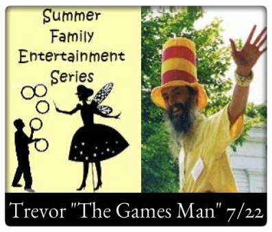 "Summer Family Entertainment at The Village Commons   Saturday, July 22rd at 10:30 AM, Trevor ""The Games Man"""