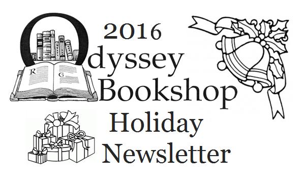 2016 odyssey bookshop holiday newsletter