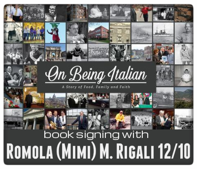 book signing with Romola (Mimi) M. Rigali 12/10