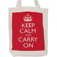 Keep Calm & Carry On Canvas Tote